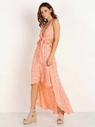 Blue Life Jolie Maxi Dress Blushing Gardens Bright Peach