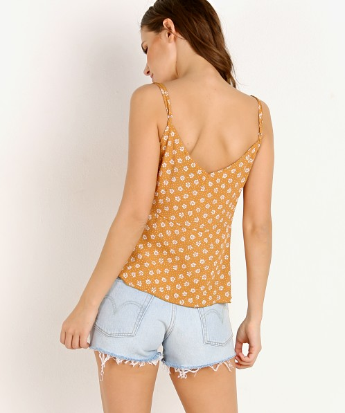Blue Life Bliss Button Front Cami Polka Dot Butterscotch
