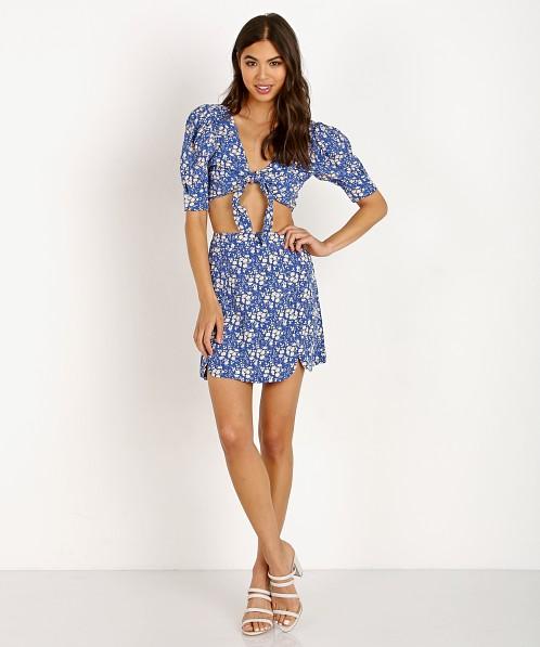 d9f897a8543 For Love   Lemons Zamira Floral Mini Skirt Cobalt CBS1226R-SP18 - Free  Shipping at Largo Drive