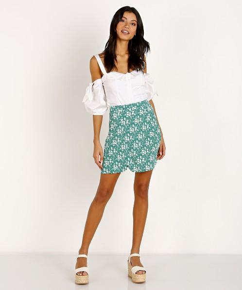 4e00187ca8 For Love   Lemons Zamira Floral Mini Skirt Kelly CBS1226R-SP18 - Free  Shipping at Largo Drive