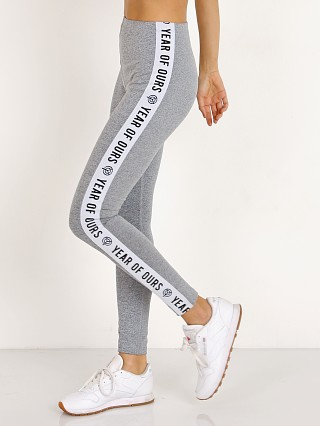 Year of Ours Side Elastic Logo Pant Grey