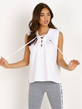 Year of Ours Lace Up Tank Sweatshirt White