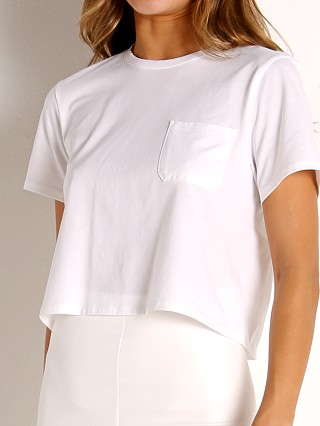 Model in white Richer Poorer Boxy Crop Tee