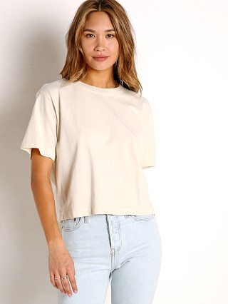 Model in bone Richer Poorer Relaxed SS Crop Tee