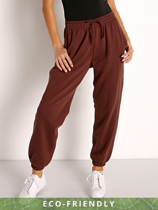 Model in truffle Richer Poorer Recycled Fleece Sweatpant