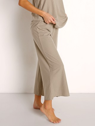 Model in dusty palm Z Supply Island Rib Culotte