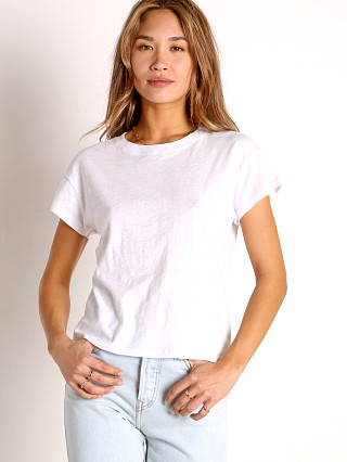 Model in white Z Supply Modern Slub Tee