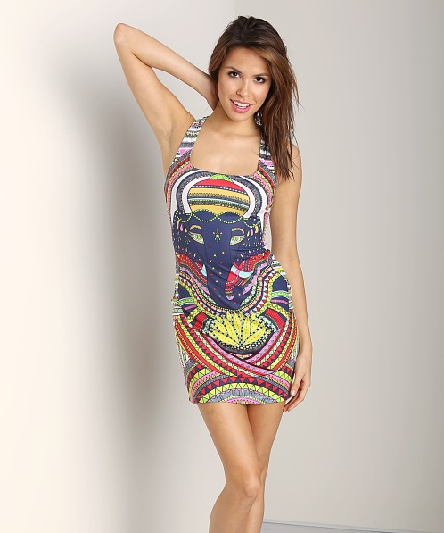 Mara Hoffman Racerback Fitted Mini Dress Ganesh White