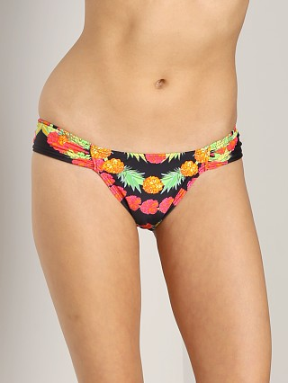 Mara Hoffman Ruched Side Bottom Garlands Black