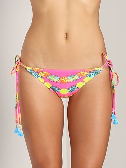 Mara Hoffman String Bottom with Tassel Garlands Coral