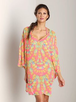 Mara Hoffman Cover Up Dress Garlands Coral