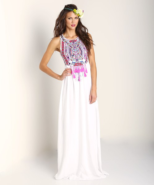 Mara Hoffman Embroidered Maxi Dress White