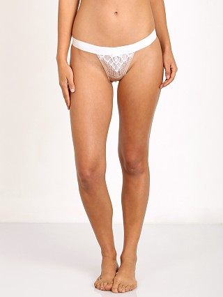 SKIVVIES by For Love & Lemons Charlot Thong Ivory/Nude