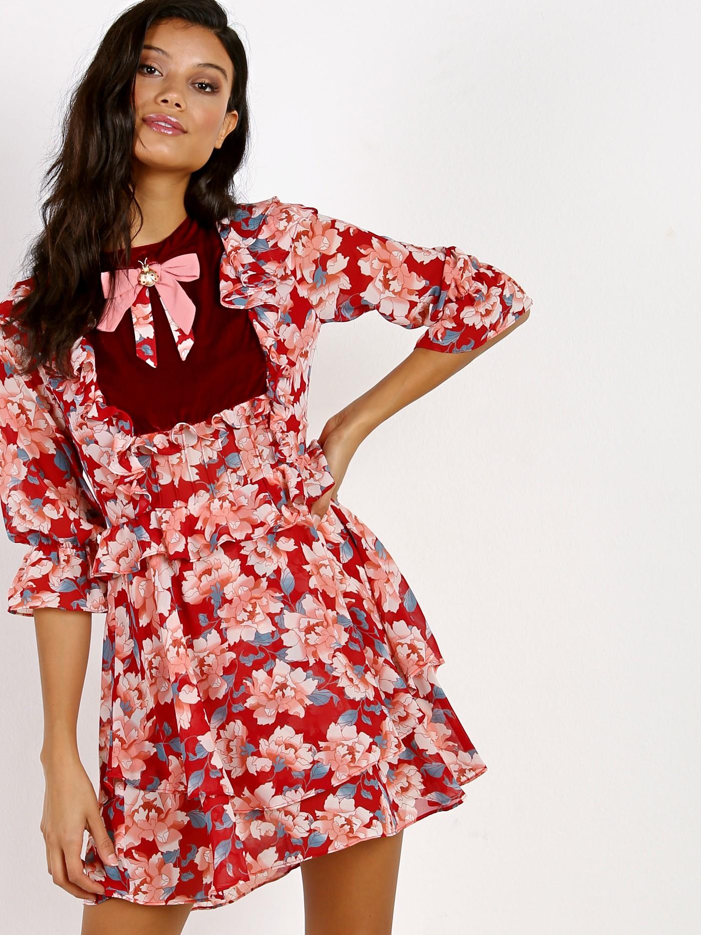 635d7e75495 For Love   Lemons Blossom Mini Dress CD1592C-FA17 - Free Shipping at Largo  Drive