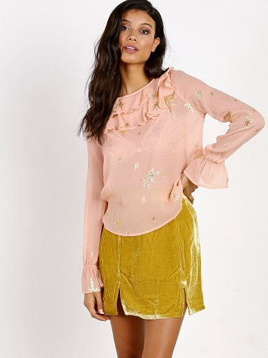 For Love & Lemons Gilded Star Blouse