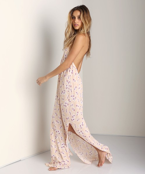Acacia Positano Crochet Neck Long Dress Island Orchid