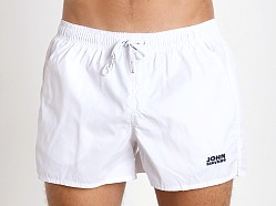 John Sievers Natural Pouch Swim Shorts White