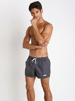 John Sievers Natural Pouch Swim Shorts Steel Grey