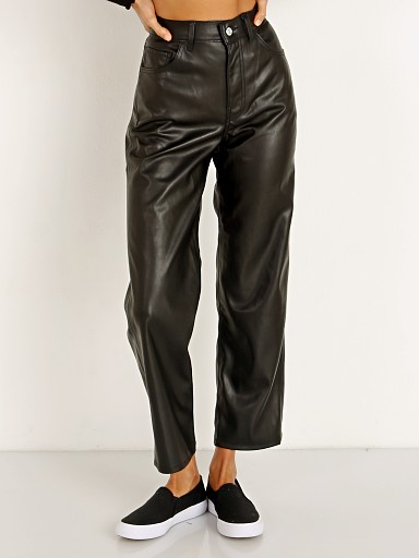 Levi's Faux Leather Ribcage Straight Leg Leather Night