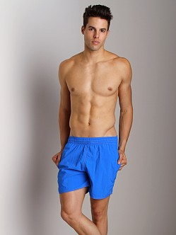 Sauvage Italian Pull-On Beach Swim Short Royal
