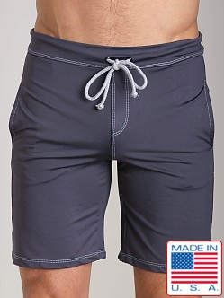 Sauvage Active Performance Low Rise Workout Short Charcoal