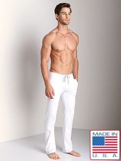 Sauvage Active Performance Low Rise Workout Pant White