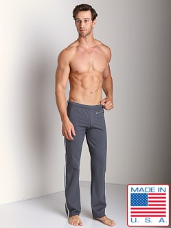 Sauvage Active Zipper Pant with Silver Side Stripe Charcoal