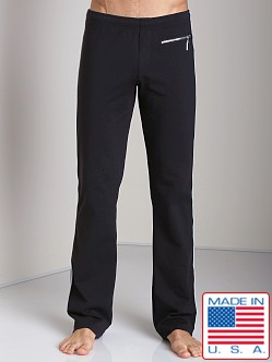 Sauvage Active Zipper Pant with Silver Side Stripe Black