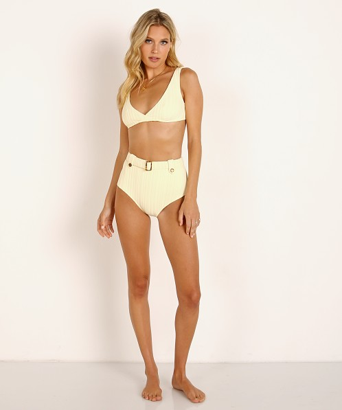 Solid & Striped The Annie Bikini Top Blonde Rib