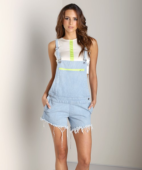 This is a Love Song Duty Dungarees Jumpsuit Denim