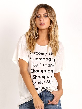 WILDFOX Grocery List Manchester Tee Alabaster