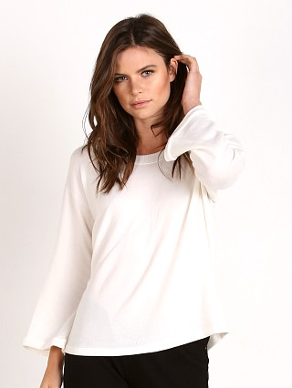 Eberjey Sweater Weather Long Sleeve Tee Ivory