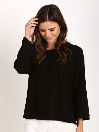 Eberjey Sweater Weather Long Sleeve Tee Black