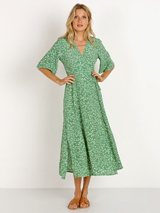 Faithfull the Brand Rivera Midi Dress Violette Print Green