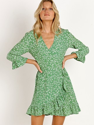 Faithfull the Brand Carmel Dress Violette Print Green