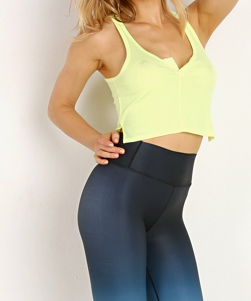 Splits59 Tag Cropped Tank Neon Citrus