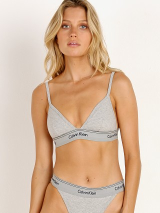 Calvin Klein Heritage Athletic Triangle Bralette Heather Grey
