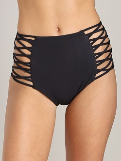 Mara Hoffman Lattice High Waisted Bottom Black