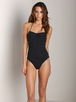 Mara Hoffman Lattice Back One Piece Black