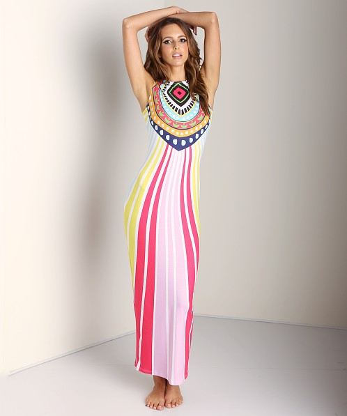 Mara Hoffman Fitted Maxi Dress Rays Pink