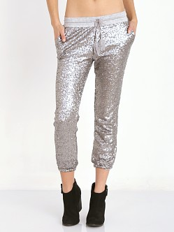 Amuse Society Mason Pant Silver Metallic Sequin