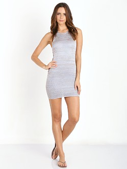Amuse Society Jordyn Dress Metallic Silver