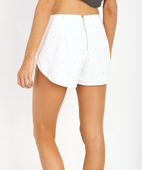 Amuse Society Nico Studded Short White
