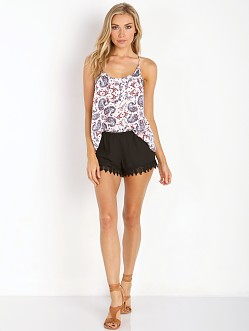 Show Me Your Mumu Bri Lacey Shorts Black Crisp