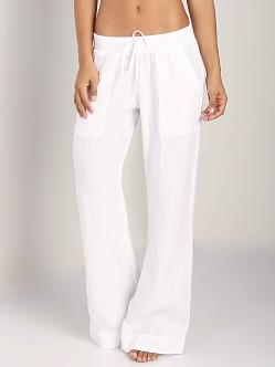 Bella Dahl Pocket Wide Leg Pant White