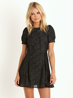 Line & Dot Kate the Great Dress Ditsy Bot Velvet