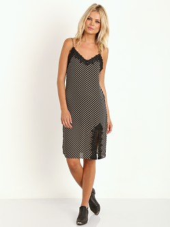 Line & Dot Gwen Midi Dress Graphite Stripe