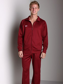 Speedo Sonic Warm-up Jacket Maroon