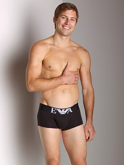 Emporio Armani Stretch Cotton Trunk Black