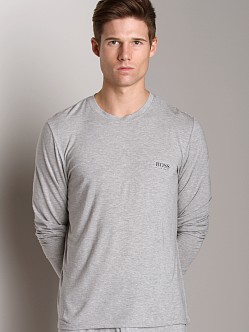 Hugo Boss Modal Long Sleeve Shirt Grey